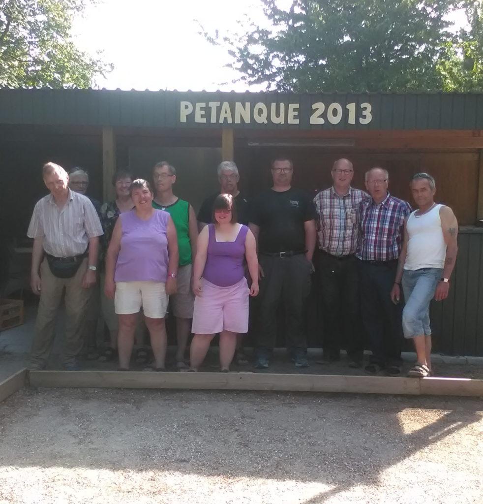 Venskabskamp med Petanque 2013